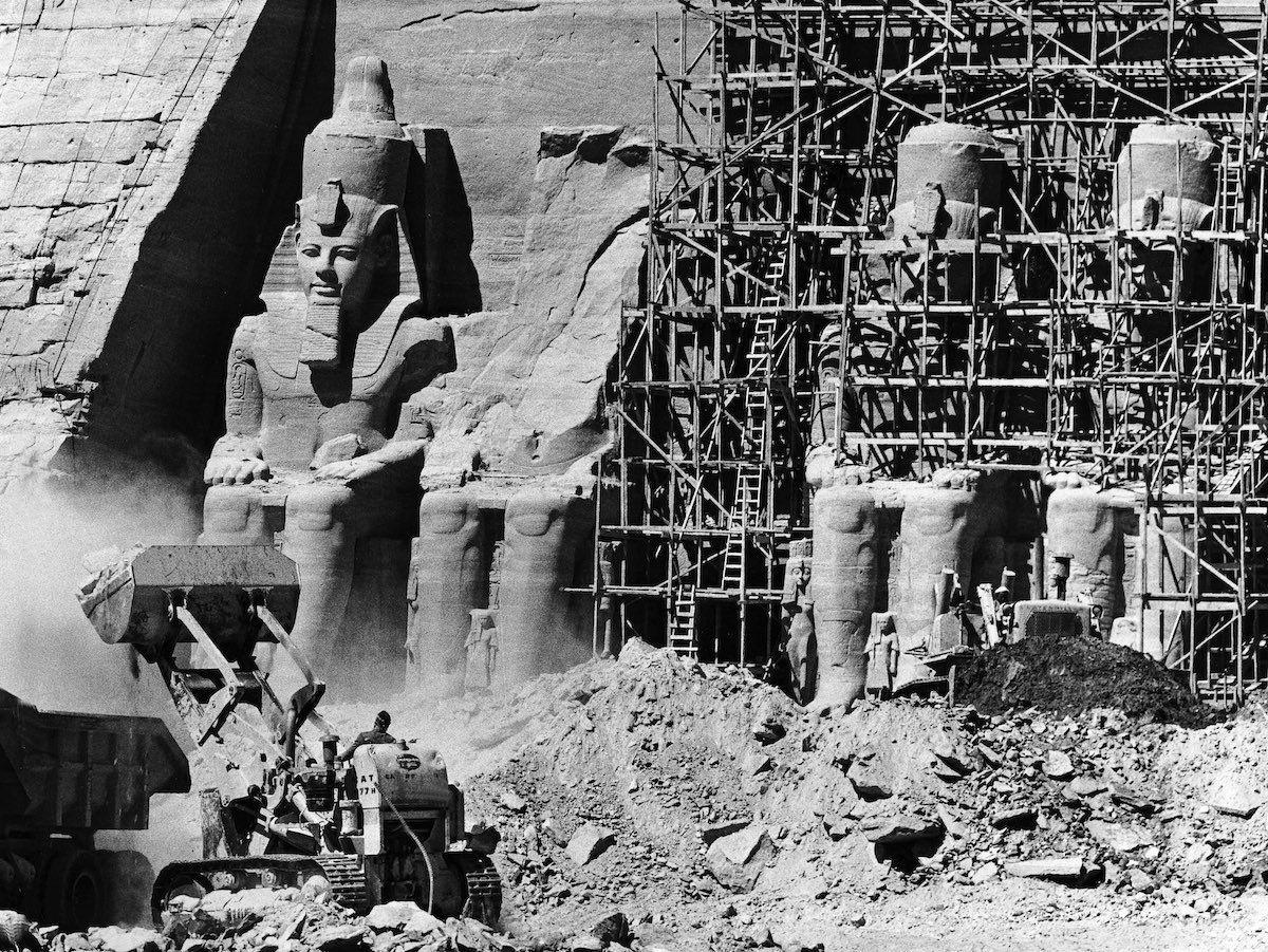 Abu simbel construction