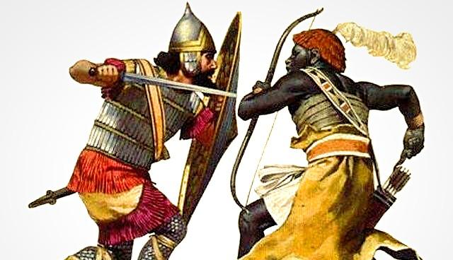 nubian fight european