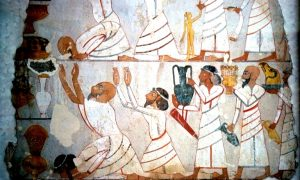 Theban_tomb_Nebamun (Asiatic tribute bearers - tomb of Sobekhotep 18th Hyksos