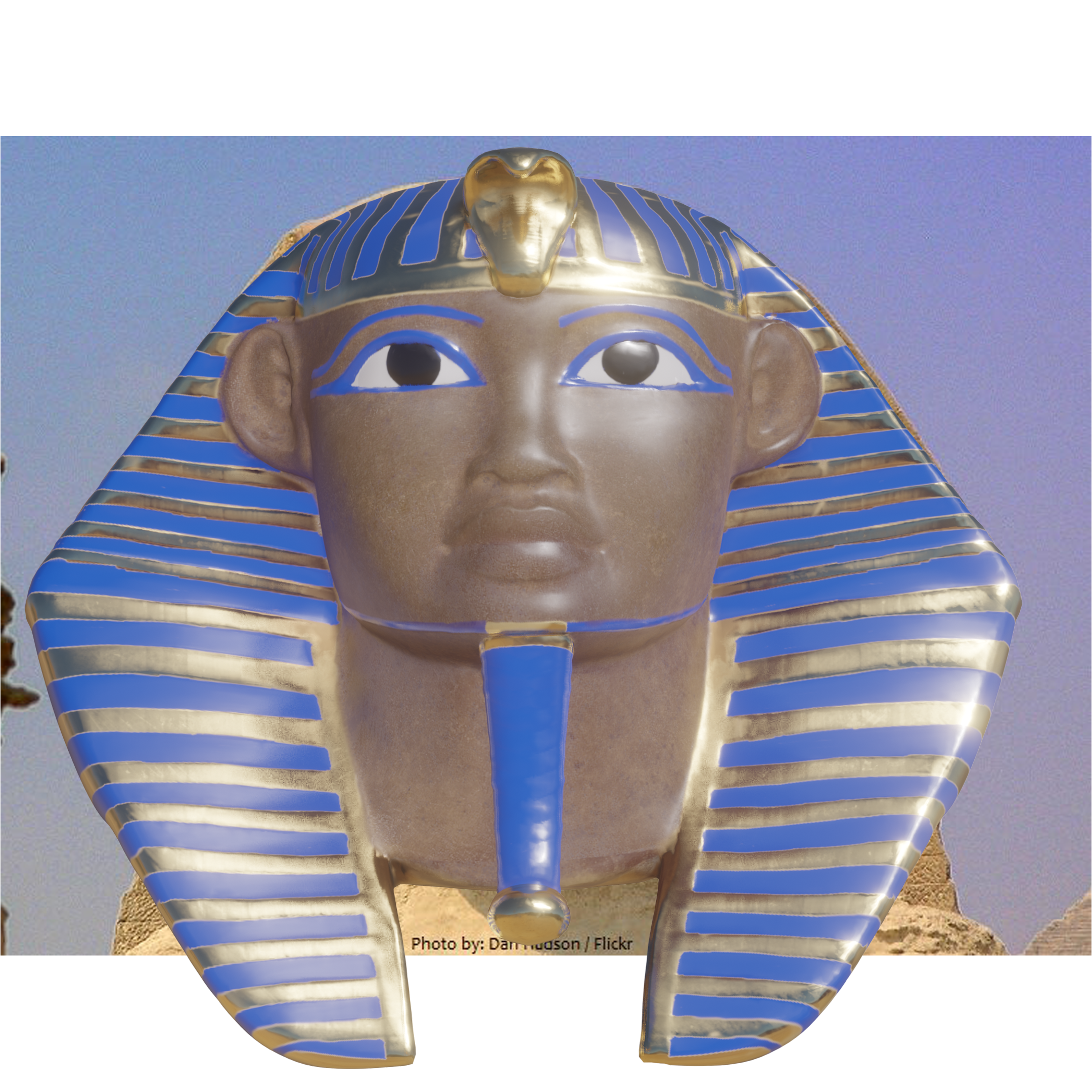 Great Sphinx 3D Front View