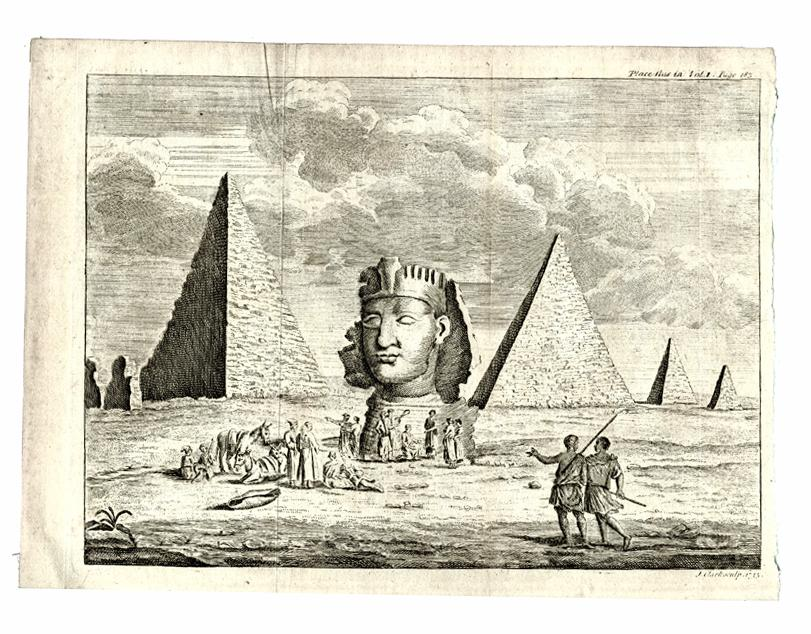 Engraving of the Sphinx by Richard Pocoke, 1743