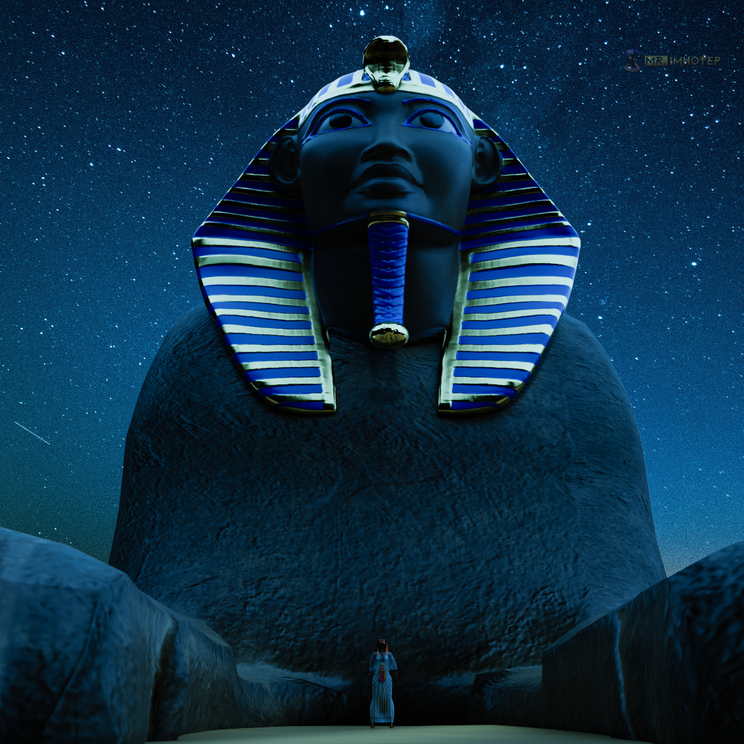 Sphinx 3D Front view Night