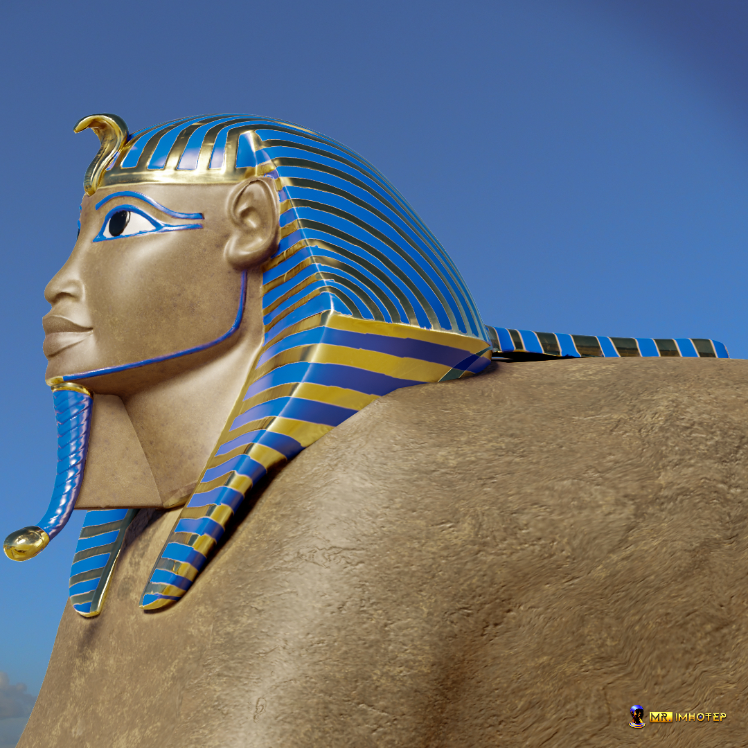 Sphinx 3D Side view